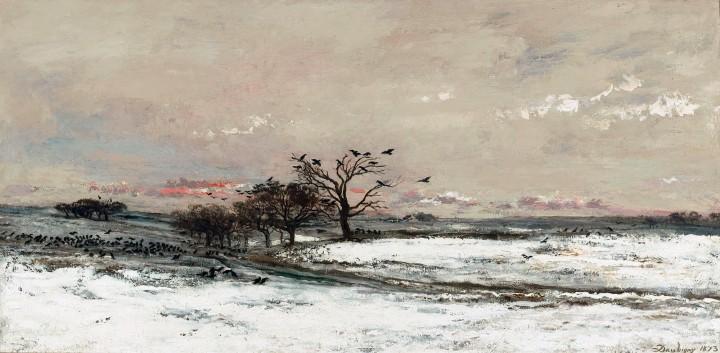 imp 1 la neige Charles-Francois Daubigny