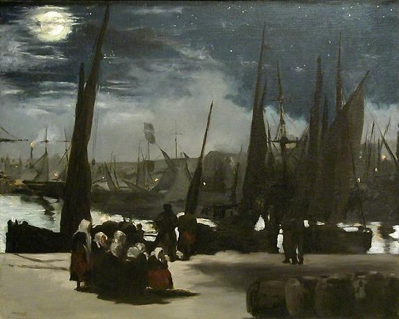 imp 5 clair de lune sur le port de boulogne edouard manet